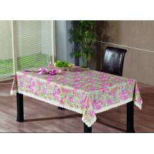 Toalha de mesa de gravação em PVC com apoio de flanela (TJG0012)