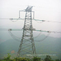 Torre de celosía de 220 Kv con 4 piernas con doble circuito