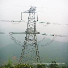 Torre de transmisión de potencia de acero de ángulo de 220 Kv