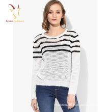 Stripe Pattern Knit Sweater Oferta