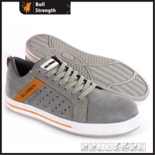 Composite Toe Suede Leather Safety Shoe with Rubber Outsole (SN5471)