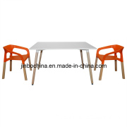 Modern White Rectangle Restaurant Living Room Dining Table Furniture (JB-A384B)