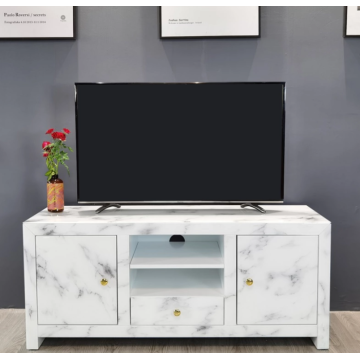 Ordinary glass TV cabinet in the living room