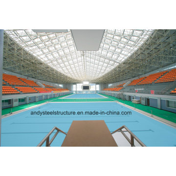 Prefabricated Galvanized Light Steel Space Frame Swimming Pool Roofing