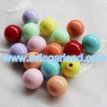 Acrylic Round Jewelry Making Half Hole Drilled Beads Half-drilled Hole Beads