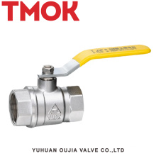 brass color long handle chrome plated ball valve