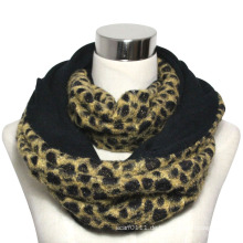 Lady Fashion Polyester Leopard Infinity Schal (YKY4367)