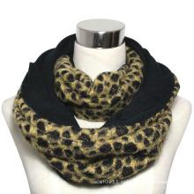 Леди мода полиэстер леопарда бесконечности шарф (YKY4367)
