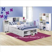 Полная кровать для хранения 7 штук Спальня в белом