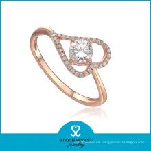 Nueva joyería del anillo de plata del presente del diseño en la acción (R-0008)
