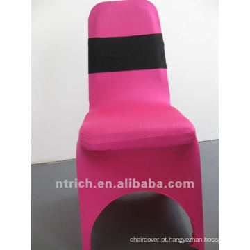 Baratos e de alta qualidade elástica cadeira Sash, faixa elástica decorativa para casamento