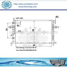 Opel Astra Radiador / Radiador Para Opel Astra-g 1.4 / 1.6 / 1.8 98 AT