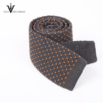 Cotton Knit Mens Silk Neckties with Embroidery Colored Dots Suitedman Ties