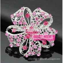 pink crystal starburst brooches