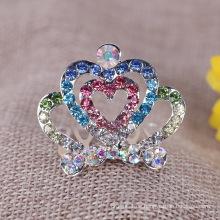 Shinning Kristall Tiara Haar Kämme Hochzeit Braut Haar Zubehör