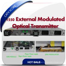 Transmetteur à fibre optique 1550nm / Modulation externe Transmetteur optique