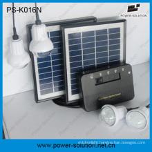 Portable Solar Home System with 4 LED Bulbs