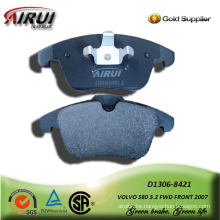 semi-metallic car brake pad for VOLVO S80 3.2 FWD FRONT 2007