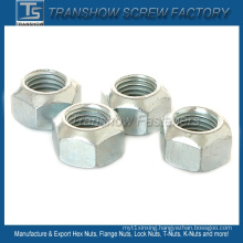 Size M8 DIN980V Carbon Steel All Metal Lock Hex Nut