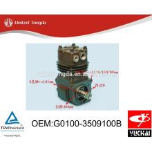 Compresseur d'air original G0100-3509100B du moteur YC4G de YUCHAI pour le camion chinois