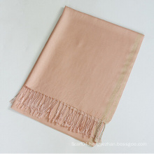 Plain viscose shawl with lurex