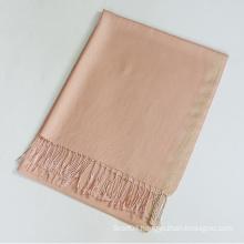 Plain viscose shawl with lurex