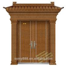 Коммерчески Двойная алюминиевая рама стеклянные раздвижные двери/высококачественная стальная дверь сертификаты КХЦ/CE