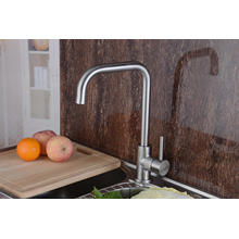 304 Нержавеющая сталь Кухонная раковина Faucet Single Handle Robinet (HS15005)