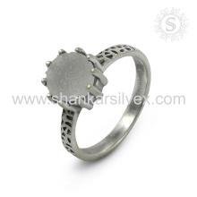 Espectacular Druzy Gemstone Silver Ring atacado 925 Sterling Silver Jewelry Indian Handmade Online Silver Jewelry