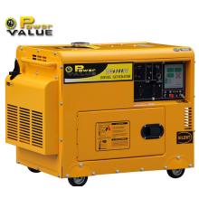 Fabricant diesel portatif chinois du générateur 5kw bon marché, petit générateur diesel silencieux de 5kVA, puissance mini de générateur