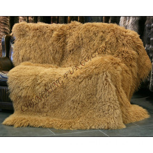 New Winter Genuine Mongolian Lamb Fur Blanket
