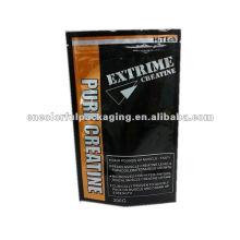 Eco friendly aluminum foil zipper bags for pack pure creatine