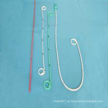 Cateter ureteral descartável fechado da trança dobro J da extremidade aberta do fim aberto