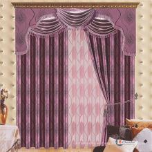 2015 la última cortina diseña la cortina barata barata de la tela del apagón del telar jacquar