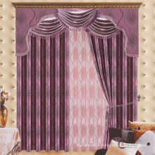 2015 latest curtain fashion designs cheap jacquard blackout fabric curtain