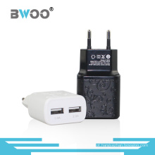 O mais novo design Dual USB Ports Travel Charger
