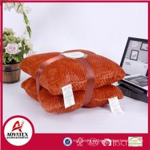 Vende bien en poliéster de EE. UU. Cojín de peluche soplo súper suave y cómodo hecho en China