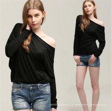 Hot Sale Moda Batwing Sexy Mulheres Blusa Tops (50176)
