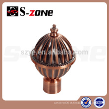 Venda quente bronze cortina finial