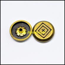 Anti. color de cobre amarillo botón Snap para accesorios de la ropa
