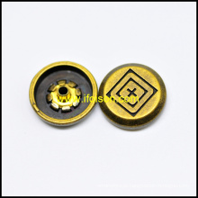Anti. cor de bronze botão Snap para acessórios do vestuário