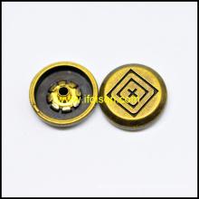 Анти. цвета латуни оснастки Кнопка для швейных принадлежностей
