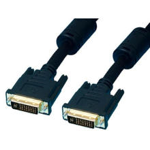 DVI-D M-M (24+1) / (24+5) Cable Gold