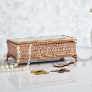 Ornamental Elegant Shape Pretty And Colorful Antique Ceramic Jewelry Box