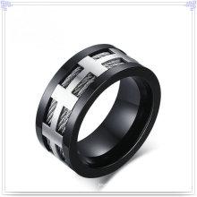 Charm jóias acessórios de moda anel de aço inoxidável (SR586)