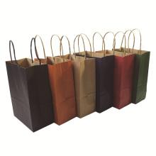 MOQ500 con asas de papel reciclable personalizado bolsa de regalo