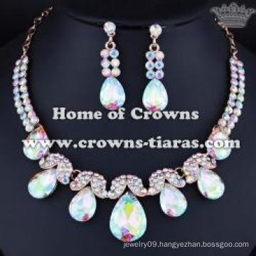 Fashion crysal AB Diamond Necklace Set