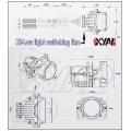 NEW 2018 Automotive headlight Q5 projector lens with hi-low beam spot headlight