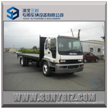Isuzu 4X2 190HP Euro4 Flatbed Truck Power Flat Transporter