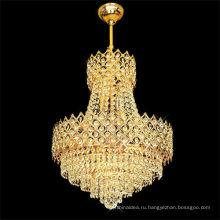 2017 новые роскошные современные золотой кристалл столовая люстра с декором